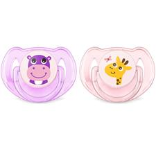 Philips Avent Classic Soothers Hippo & Giraffe 6-18m 2Pk