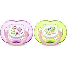 Philips Avent Freeflow Bite Resistant Soothers Girls 18m+ 2Pk