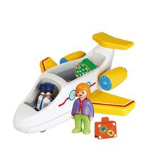 Playmobil 1.2.3 Airplane with Passenger