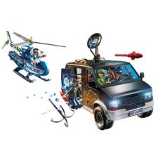 Playmobil City Action Police Helicopter Pursuit with Runaway Van