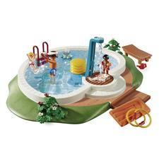 Playmobil Swimming Pool with Functioning Shower and Floating Raft