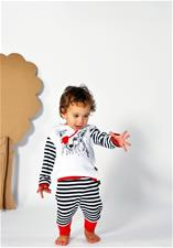 Rockabye Baby Baggy Trousers Black and Red 3-6m