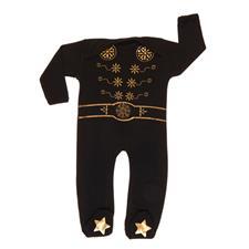 Rockabye Baby Elvis King Sleepsuit Black 3-6m