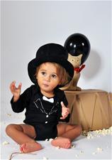 Rockabye Baby Tuxedo Long Sleeve Black Bodysuit 3-6m