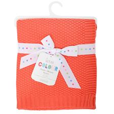 Silvercloud Cotton Blanket Coral