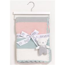 Silvercloud Made With Love Blanket & Baby Bear Gift Set Pink