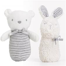 Silvercloud Made with Love Bear & Bunny Chime Rattles