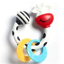 Tiny Smarts Teether-Rattle Tiny Cow