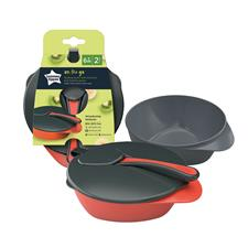 Tommee Tippee 2 Feeding Bowls with Spoon and Lid