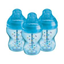 Tommee Tippee Advanced Anti-Colic Bottle Sky 260ml 3Pk