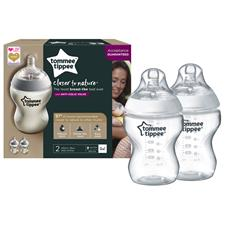 Tommee Tippee Closer To Nature Feeding Bottle 260ml 2Pk