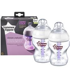 Tommee Tippee Closer to Nature Advanced Anti-Colic Bottle 260ml 2Pk