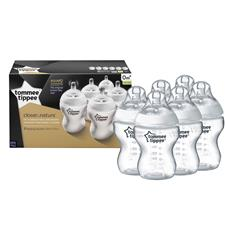 Tommee Tippee Closer to Nature Bottle 260ml 6Pk