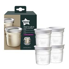 Tommee Tippee Closer to Nature Breast Milk Storage Containers 4Pk
