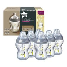 Tommee Tippee Closer to Nature Decorated Bottle Owl 260ml 6Pk