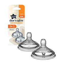 Tommee Tippee Closer to Nature Teat Fast Flow 2Pk