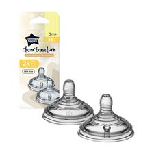 Tommee Tippee Closer to Nature Teat Medium Flow 2Pk