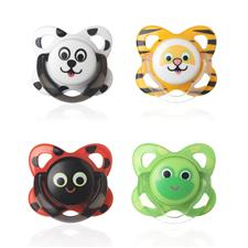 Tommee Tippee Essentials Funky Face Soothers 6-12m 2Pk