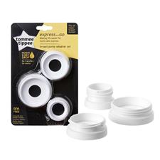 Tommee Tippee Express and Go Breast Pump Adapators 3Pk