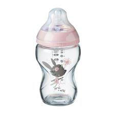 Tommee Tippee Glass Bottle Girl Decorated 250ml