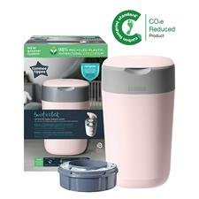 Tommee Tippee Twist & Click Nappy Disposal Tub Gentle Pink