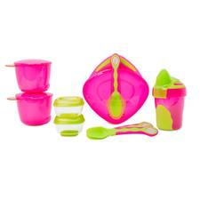 Vital Baby 8 Piece Start Weaning Kit Pink