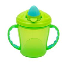 Vital Baby Free Flow Cup with Soft Flip Spout Green and Turquoise