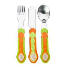 Vital Baby Stainless Steel Cutlery Set Orange
