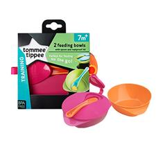 Explora Easy Scoop Weaning Bowl & Lid Twin Pack - 2 colours