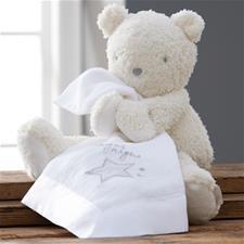 Silvercloud Made with Love Teddy Bear with Muslin Comforter