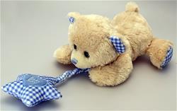 Keel Toys Cuddles Dangle Bear with Sound 2 Asst 30cm