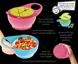 Brother Max Easy Hold Snack Pot Pink Green Bowl