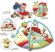 Little Bird Told Me Softly Snuggle Multi Activity Playmat & Gym