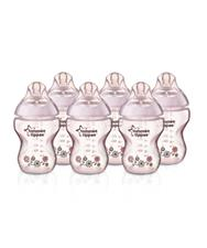 Closer to Nature Decorated Easivent 260ml Bottles x6 - Pink