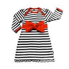 Rockabye Baby Envelope Neck Red Bow Dress Black and Red - 6-12mths