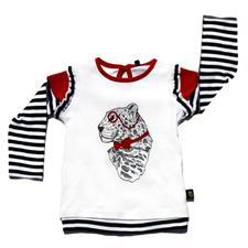 Rockabye Baby Frilly Leonard Leopard Long Sleeve T-Shirt - 3-6mths