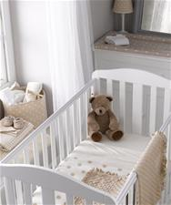 Mothercare Fleece Crib Blanket - Cream