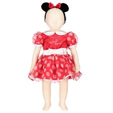 Minnie Mouse Red Dress with Headband - 6-12mths