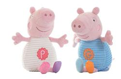 Peppa and George with Chime and Rattle