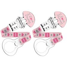 MAM 2 Pack Clip Pink