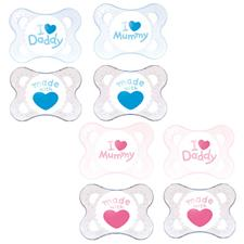 MAM Style (I Love) Soother Twin Pack - 0 months+