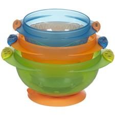 Munchkin Baby Stay Put Suction Bowls (3 Pack)