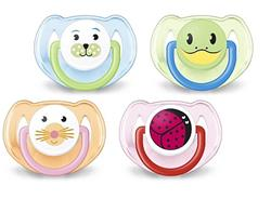 Philips Avent Fashion Animals BPA Free Soothers Twin Pack - 6-18 months
