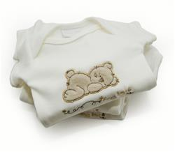 Gorgeous Gifts Organic Sleepy Bear Bodysuit - 8-12lbs