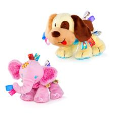 Taggies Tag n Play Pals - Doggie and Elephant