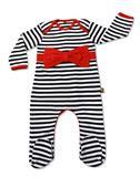 Rockabye Baby Red Bow Stripe Envelope Neck Sleepsuit - 0-3mths
