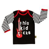Rockabye Baby This Kid Rocks Long Sleeve T-Shirt - 6-12mths