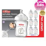 Nuby Natural Touch 270ml Neutral Bottle x6
