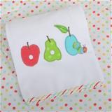 Very Hungry Caterpillar Fruits Applique Pram Blanket