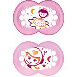 MAM Night Soother Pink - 12 months +